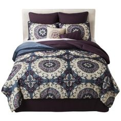 Stitched Medallion 8 Piece Comforter Set : Target Mobile