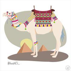 illustration Egypt camel