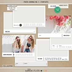 Photo Journal No. 2  (Templates) | by Sahlin Studio  	 	So you've finished creating your page - the photos look great, the color palette is awesome, you've embellished everything exactly how you envisioned it - but there is just one problem. You...
