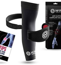 1 Tennis Elbow Brace & 1 Copper Infused Compression Elbow Sleeve - Pain Relief for Tennis Elbow & Golfers Elbow Support - Tennis Elbow Compression Band: With 88% copper-infused nylon + spandex, this dual-system tennis elbow brace + compression elbow sle