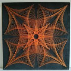 String Wall Art, Nail String Art, Diy Wall Art, Wall Art Decor, String Art Templates, String Art Tutorials, String Art Patterns, Geometric Wall Art, Abstract Wall Art