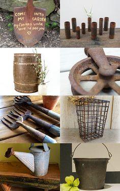 Sally's rustic garden finds.....