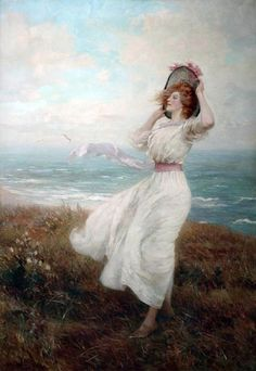 https://flic.kr/p/uYnBer | Arthur Hopkins - Breeze on the cliff, 1910 | Copyright Atkinson Art Gallery Collection / Supplied by The Public Catalogue Foundation
