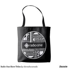 Radio One Show Titles Tote Bag