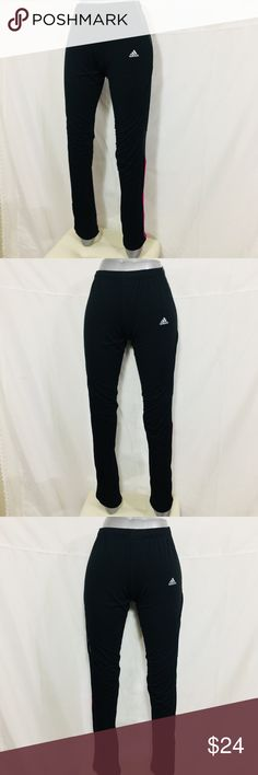 Adidas Women's Response Fitness Pants Sz L Great conditions, ankle zipper and back pocket, pink stripes. Nike Pants Track Pants & Joggers