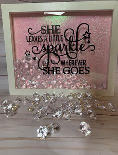 """Circuit Projects Discover Shadow Display Box """"Dont Let Anyone Dull your Sparkle"""" Quote Teenage Bedroom Nursery Home Decor Glitter Diamonds Sparkle Flower Shadow Box, Diy Shadow Box, Shadow Box Frames, Flower Boxes, Flowers, Vinyl Projects, Craft Projects, Circuit Projects, Project Ideas"""