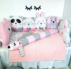 Бортики зверюшки в кроватку, детские подушки❤️ Crib beds, pillows for baby, crib bumpers❤️ Baby Crib Bumpers, Baby Cribs, Baby Boy Room Decor, Baby Boy Rooms, New Baby Crafts, Crib Pillows, Baby Furniture Sets, Baby Sheets, Handmade Baby Gifts