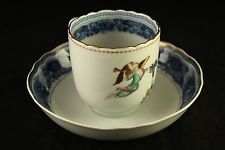 Mottahedeh Porcelain China Cincinnati Service Winterthur Single Tea Cup & Saucer