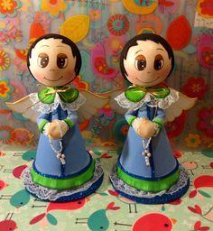 Angelitos en goma Eva realizado por Giovanna Marconi Religion, Princess Zelda, Crafts, Character, Art, Angels, Xmas, Ideas, Christmas Ornaments