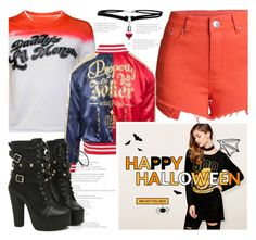 """Harley Quinn With Dresslily"" by fattie-zara ❤ liked on Polyvore"