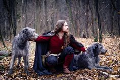 "Viking and Wolfhounds! A Hiberno-Norse themed photoshoot in Moscow with Irish Wolfhounds from kennel ""ИЗ ВОЛШЕБНОГО ЛЕСА"", (""From the Magic Forest""), . Viking reenactor Anth…"