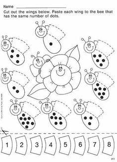 Animal Number Count Worksheet For Kids