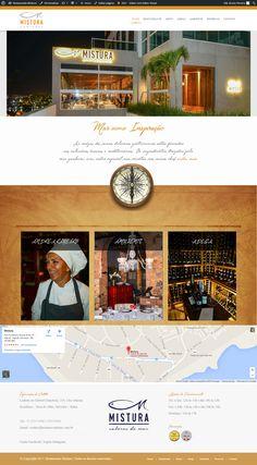 Website do novo Restaurante Mistura Contorno