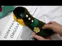 Analı Kızlı Tığ İşi Ev Ayakkabısı Yapımı - YouTube