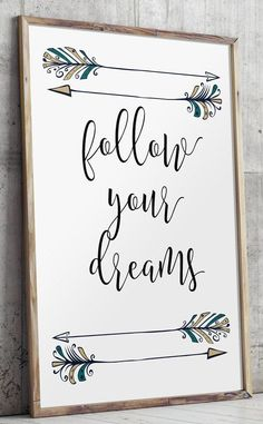 Bohemian prints teen room decor observe your goals children room Dream Kids, Just Dream, Design Shop, Diy Room Decor, Nursery Decor, Nursery Prints, Teen Bedroom Decorations, Lettering Brush, Hand Lettering