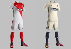 Camisas do AS Monaco 2016-2017 Nike'