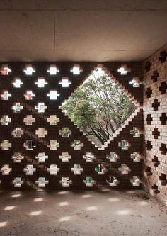 Untitled Brick Design, Facade Design, Wall Design, House Design, Brick Cladding, Brick Facade, Brick Wall Decor, Brick Art, Brick Detail