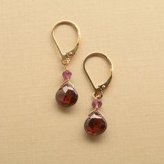 garnet earrings summer earrings garnet jewelry january by izuly, $36.00