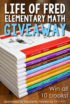 Life of Fred Elementary Math Giveaway ~ the entire 10 book series!  Giveaway ends 8.31.15