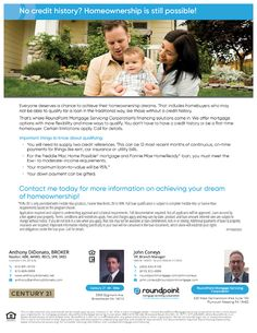 No Credit History? Home Ownership is still Possible! - Real Estate Agent and Sales in PA - Anthony DiDonato Broomall, Media, Delaware County and surrounding areas in Pennsylvania Delaware County, Real Estate News, Home Ownership, Things To Know, Home Buying, Pennsylvania, First Time, How To Apply, History