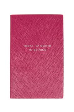 """""""Today I'm Going to be Nice"""" Leather Journal / Smythson"""