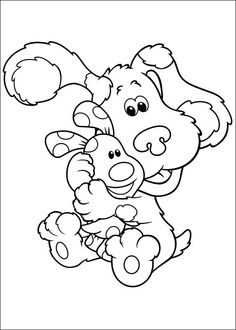 blue s clues color page cartoon characters coloring pages color