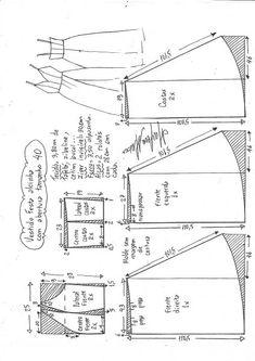 Vestido e saia de festa com tiras de espaguete - Nähen - Sewing Clothes Women, Diy Clothing, Clothing Patterns, Sewing Patterns, Techniques Couture, Sewing Techniques, Fashion Sewing, Diy Fashion, Sewing Tutorials
