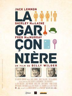 La Garçonnière est un film de Billy Wilder avec Jack Lemmon, Shirley MacLaine. Synopsis : C.C. Baxter est employé à la Sauvegarde, grande compagnie d'assurance. Dans l'espoir d'un avancement il prête souvent son appartement à ses supérieurs