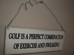 Golf Golf Sign Golfing Sign for Golfers Golf by SuzyQsVintageShop, $4.25