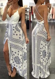 31 Spring Dresses That Will Inspire You - Spring Outfits Pretty Dresses, Sexy Dresses, Beautiful Dresses, Fashion Dresses, Summer Dresses, Awesome Dresses, Fashion Heels, Backless Maxi Dresses, Chiffon Evening Dresses