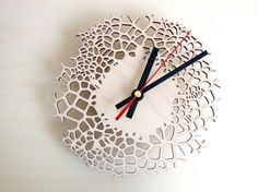 Wooden Wall Clock - Small Giraffe