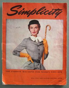 Vintage Simplicity 1952 Fall and Winter Pattern Book large magazine