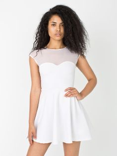 Ponte Sweetheart Skater Dress. #AmericanApparel