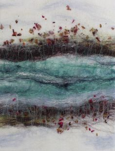 "Textile art by Scottish artist, Kerry Souter, Felt wall art, fibre art, felt picture, deep edged canvas, 30 x 40cm, 12"" x 16""(approx). by KerrySouterArtist on Etsy"