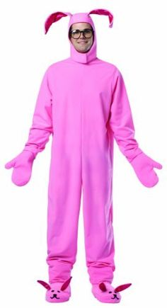 Rasta Imposta A Christmas Story Bunny Suit Costume, Pink, One Size