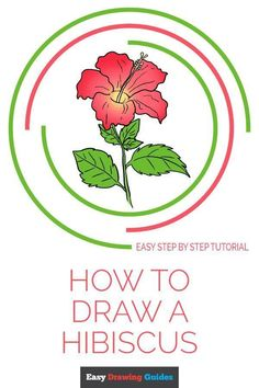 Flower Drawings Tutorial - Learn to draw a beautiful hibiscus flower. This step-by-step tutorial makes it easy. Kids and beginners alike can now draw a great looking hibiscus. Flower Drawing Tutorials, Drawing Tutorials For Kids, Drawing For Beginners, Art Tutorials, Spring Arts And Crafts, Easy Arts And Crafts, Arts And Crafts Projects, Kids Crafts, Hibiscus Flower Drawing