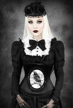Restyle-Korsett-Odin-Rabe-Gothic-Lolita-Mieder-Corset-Steel-Boned-Raven-WGT-CR1