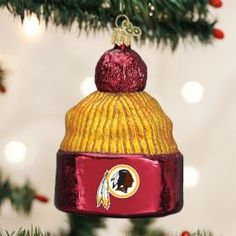 Old World Christmas Washington Redskins NFL Football Beanie Ornament direct from the ChristmasOrnamentStore.com