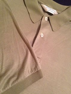 Mens Brooks Brothers Green Polka Dot Casual Polo Shirt 100% Cotton Size Large  $24.99 #brooksbrothers #menspolo #preppy