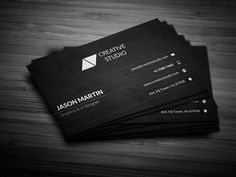 Check out Corporate Dark Business Card by bouncy on Creative Market