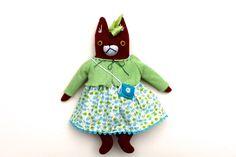 Summer Fox Girl Doll wool plush softie by MimiKirchner on Etsy https://www.etsy.com/listing/237797088/summer-fox-girl-doll-wool-plush-softie