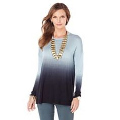Marla wynne dip dyed beautiful ombre sweater Like new, only worn 2 times, beautiful ombre affect Tops