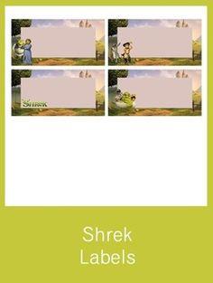 Shrek Labels - FREE PDF Download