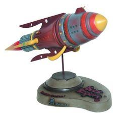 """Cool Rockets Buck Rogers: Battle Cruiser Space Ship Desk Model by Cool Rockets. $135.65. Resin model kit. Recreates the Buck Rogers spaceship from the 1930s. Created by Jeff Brewer. Measures 12"""" long. From the Manufacturer Soar into space with the Space Battle Cruiser from the classic Buck Rogers. This resin model kit from Cool Rockets, created by Jeff Brewer, features the retro spaceship design common to science fiction of the 1930s and measures 12"""" long. ..."""