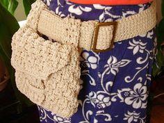 Fabric Belts – Handmade crochet belt and bag – a unique product by Eagle on DaWanda Crochet Belt, Love Crochet, Knit Crochet, Crochet Handbags, Crochet Purses, Macrame Patterns, Crochet Patterns, Loom Knitting Projects, Macrame Bag