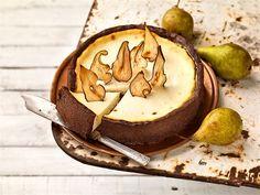 Päärynä-kinuskijuustokakku