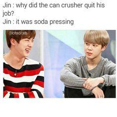 BTS (防弾少年団) - Kim Seokjin (Jin) and his dad jokes lol - look at Jimin's face