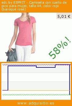 edc by ESPRIT - Camiseta con cuello de pico para mujer, talla 44, color rojo (baroque rose) (Ropa). Baja 57.506361323155%! Precio actual 5,01 €, el precio anterior fue de 11,79 €. https://www.adquisitio.es/edc-by-esprit/camiseta-cuello-pico-130