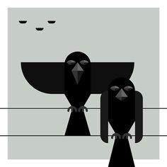 #crow #bird #illustration #screenprinting