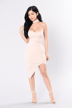Night In Paris Dress - Pale Peach